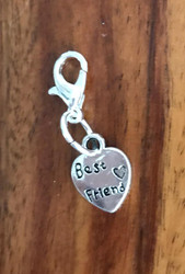 Resell for 6.00 or more Best friend / pewter Lobster clasp bauble charm Style #BFHB011818g