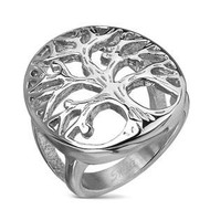 esell for 36.00 or more **also at your consultants website Stainless Steel Oval Shaped Tree of Life Casting Ring, Width 28mm size 6 Style #TLSRS6x012218g  size 7 style #TLSRS7x012218g   size 8 style #TLSRS8x012218g