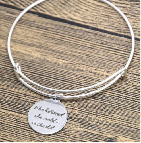 resell for 12.00 or more fits 7 to 8 inch wrist. She believe she could so she did. pewter Style #SBSCBB020718g