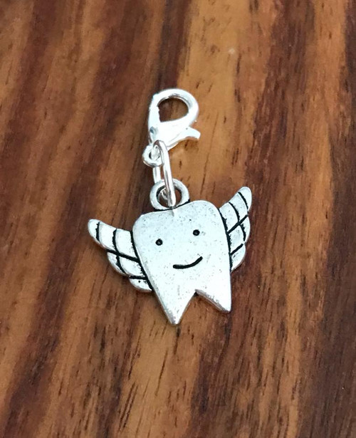 Resell for 6.00 or more Pewter tooth fairy Lobster clasp bauble charm Style #TFB020818g