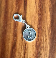 Resell for 6.00 or more Lobster clasp bauble  Aprox 12 mm  Pewter charm letter J Style #LJB021418g