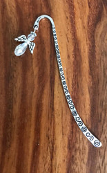 Resell for 9.00 or more Pewter bookmark Clear crystal angel Style #CCABM021918g