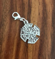 Resell for 6.00 or more Pewter fire dept badge  Lobster clasp bauble charm Style #FDBB022218g fireman
