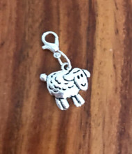 Resell for 6.00 or more Pewter lamb  Lobster clasp bauble charm  Easter jewelry Style #PLB030818g