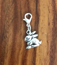Resell for 6.00 or more Pewter bunny  Lobster clasp bauble charm  Easter jewelry Style #CLBB030818g