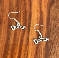 Resell for 5.00 or more Pewter dance charm Surgical steel ear wires Style #DPE031618g