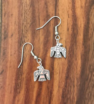 Resell for 6.00 or more Pewter 2 sided totem eagle  Surgical steel ear wires Style #TBE032718g