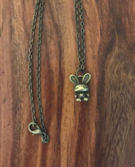 Resell for 9.00 or more 16 inch antiqued brass chain Antiqued brass bunny rabbit Style #ABBN032718g