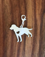 Resell for 12.00 or more Stainless steel Labrador retriever Engrave-able Lobster clasp bauble charm Style #ELRBD041318