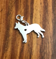 Resell for 12.00 or more Stainless steel engravable  German Shepherd bauble charm Style #EGSBC041318