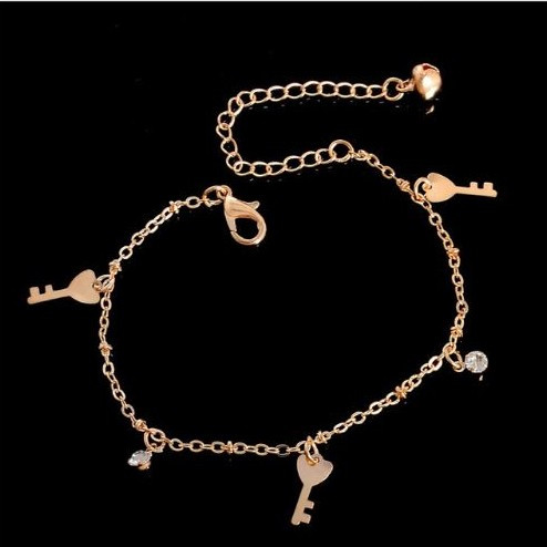 resell for 9.00 or more Key Bracelet 7 inch plus ext gold tone Style #GTKB041318