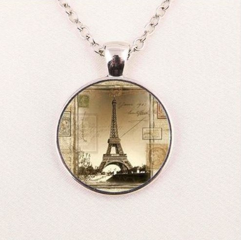 Eiffel tower pendant necklace sedalia designs resell for 1500 or more 22 inch silver tone chain plus ext eiffel tower pendant necklace aloadofball Image collections