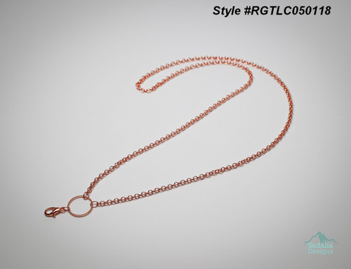 Rose Gold Tone Lobster Clasp Locket Chain  Locket Sold Separate.  25 inches long  Style #RGTLC050118  zinc alloy/ plated pewter