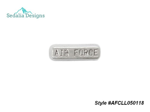 Airforce Locket Charm  for Lana's Lockets  Zinc alloy  style #AFCLL050118