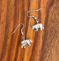 Resell for 9.00 or more 3D pewter bear  Surgical steel ear wires Style #BE050318