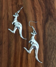 Resell for 6.00 or more Pewter Kangaroo Surgical steel ear wires Style #KE052218
