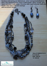 Misty Morning Gunmetal necklace set