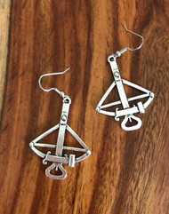 Resell for 9.00 or more Pewter cross bow 1 5/8 x 1 2/8 inch Walking Dead inspired Surgical steel ear wires Style #CBE061518