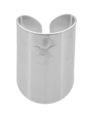 """resell for 15.00 or more Heart design Silver Tone / Lead&nickel Compliant / Metal / Cuff Ring  •   SIZE FREE : CUFF •   WIDTH : 1"""" •   SILVER  Style #HCR062018"""