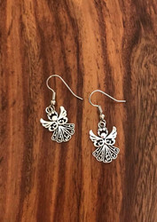 Resell for 6.00 or more Pewter ornate angel earrings Surgical steel ear wires Style #SOAE072318