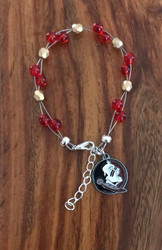 "Resell for 40.00 or more  7.5"" plus ext chain floating bracelet Official licensed Florida State Seminoles Charm. Made by Ashley Style #FSOB080718"