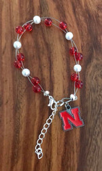 "Resell for 40.00 or more  7.5"" plus ext chain floating bracelet Official licensed Nebraska charm. Made by Ashley Style #NOB080718"