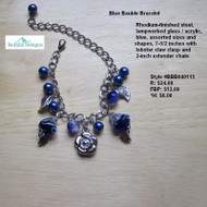 Blue Bauble Bracelet
