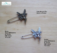 Fairy Brooch Pin - pewter
