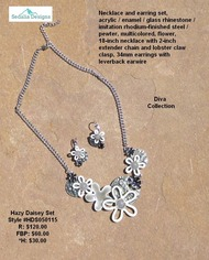 Hazy Daisy Necklace & Earring set
