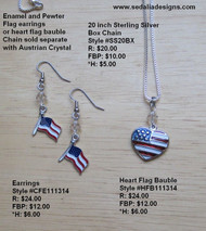 Heart Flag Bauble