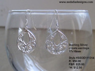 Ornate Sterling Silver Earrings