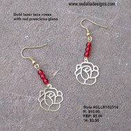Lace rose earrings