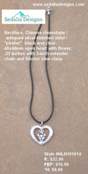 Chinese rhinestone heart Necklace