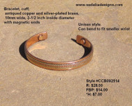 Bracelet, Antiqued copper
