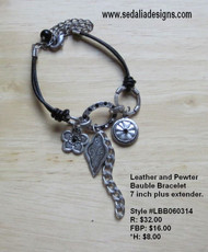 Pewter bauble bracelet