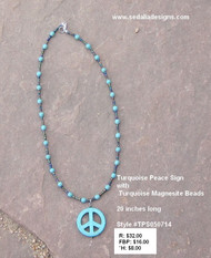 Turquoise Peace Sign Necklace