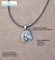 Horse Pendant in Pewter - choose your chain or leather necklaces sold separately