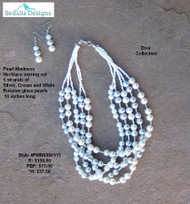 Pearl Madness Necklace & Earring set