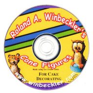 CONE FIGURES FOR CAKE DECORATING DVD BY ROLAND WINBECKLER