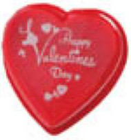 1# PRINTED CLEAR LID HEART