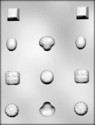 "1 - 1-1/4"" DEEP FANCY SHAPES CHOCOLATE CANDY MOLD"