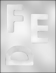 """4"""" LETTER D-E-F CHOCOLATE CANDY MOLD"""