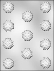 "1 3/8"" SNOWFLAKE CHOCOLATE CANDY MOLD"