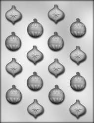 "1"" CHRISTMAS ORNAMENT CHOCOLATE CANDY MOLD"