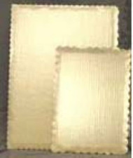 Gold Rectangle Cardboards w/Scalloped Edges--Pkg/100