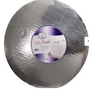 "10"" Silver, Coated Round Cardboards--Pkg/12"