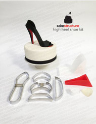 Fondant High Heel Shoe Kit--Now with Five Cutters & Two Drying Ramps