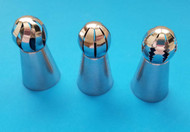Russian-Style Sphere-Ball Tips (Set of 3 Tips) - Great for Large Drop Flowers