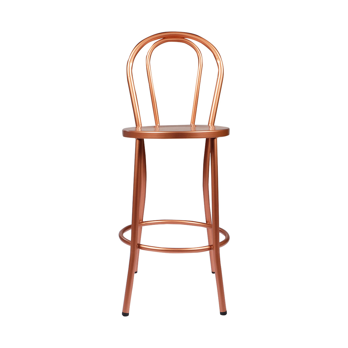Copper French Bistro Counter Stool w/ Back - French Bistro Counter Stool W/ Back