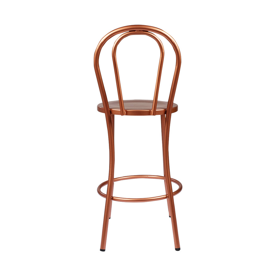 Copper french bistro counter stool w back - French bistro barstools ...